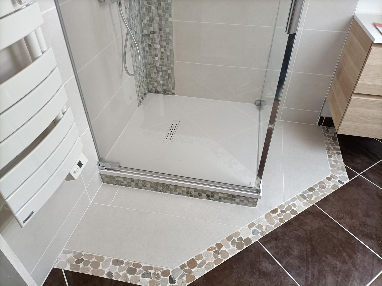 création d'une douche à l'italienne à Rennes
