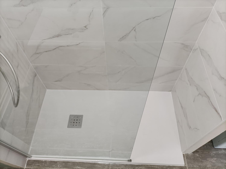 douche à l'italienne - amx plomberie rennes